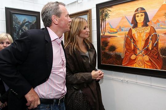 I zpěvaččin partner Vratislav Janda byl s portrétem spokojen.