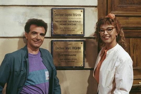 Gérard Rinaldi se Sophie Arnold v seriálu Marc et Sophie.