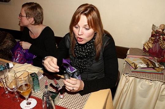 Kamila Špráchalová na párty.