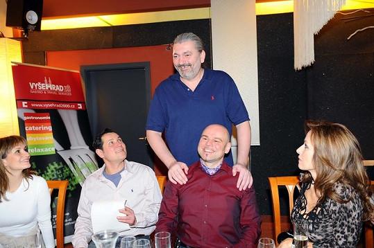 Muzikáloví kolegové Monika Absolonová, Kateřina Brožová a Pavel Vítek si vyposlechli příběh.
