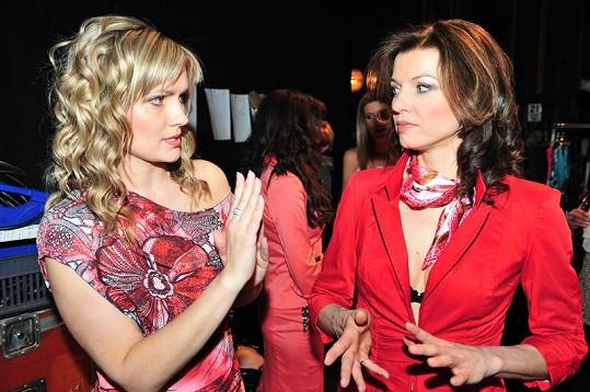 Krásky po třicítce zastupovaly Monika Žídková a Elen Valentová.