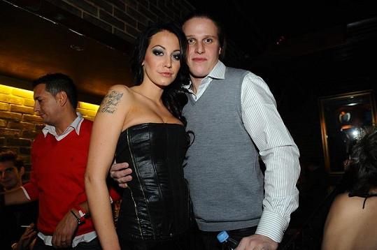 Agáta Hanychová s přítelem Miroslavem Dopitou