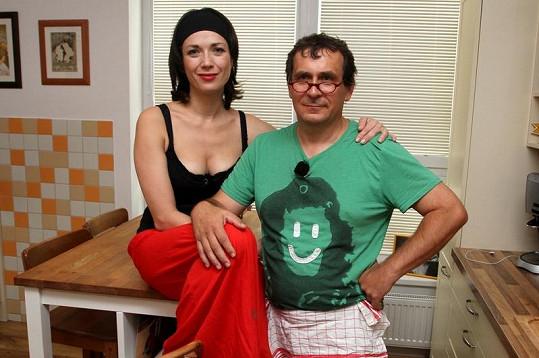 Tereza Kostková s mužem Petrem Kracikem