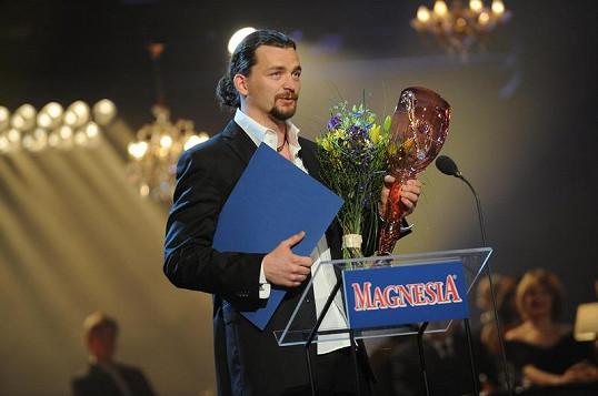 Dušan Vitázek při děkovné řeči.