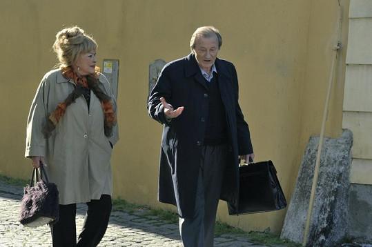 Radoslav Brzobohatý a Jiřina Bohdalová ve svém nejnovějším filmu.