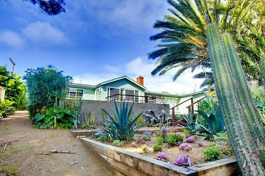 Dům i pozemek hýří barvami.