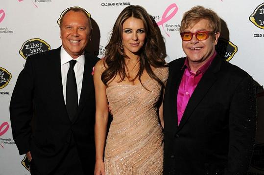 Liz Hurley s Eltonem Johnem.