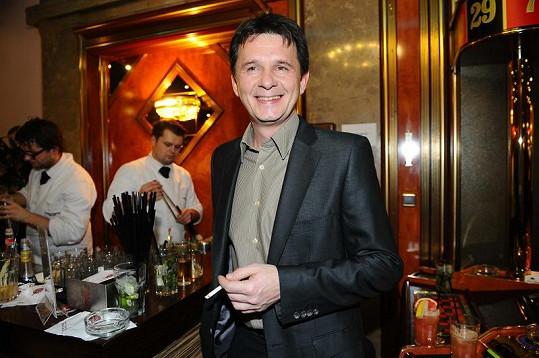 Jan Šťastný na párty kasína.