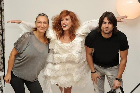 Společné foto se stylistkou Claudií a fotografem Danielem