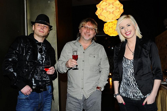 Jarek Šimek, Dalibor Janda a Jiřina Jandová.
