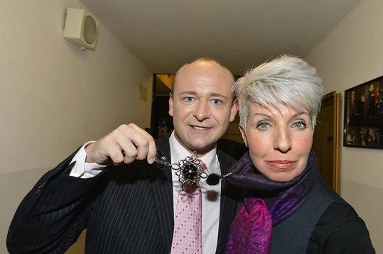 David Novotný a Marcela Březinová spolu blbli v zákulisí.