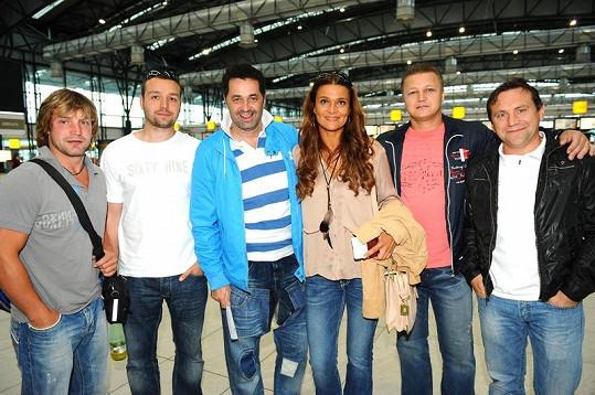 Mahulena Bočanová a část týmu HC Olymp.