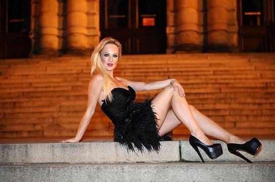 Zuza Belohorcová má neskutečné nohy.