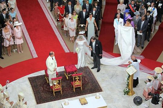 Církevní obřad v knížecím paláci.