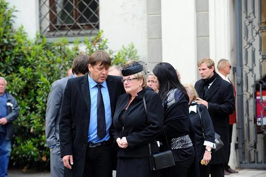Syn Ivo Pešáka David s vdovou Miladou.