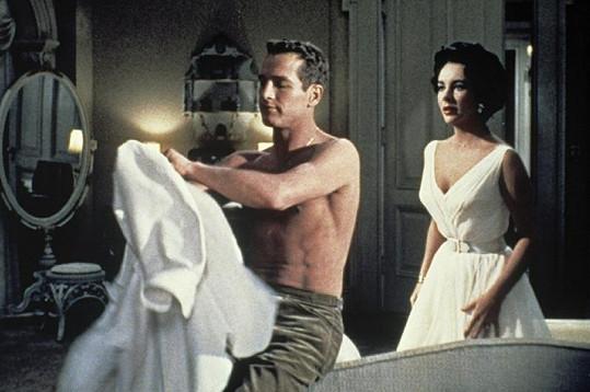 Paul Newman s Elizabeth Taylor ve filmu Kočka na rozpálené plechové střeše.