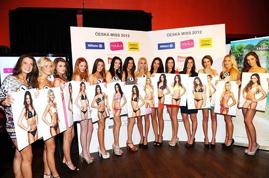 Finalistky České Miss 2012.