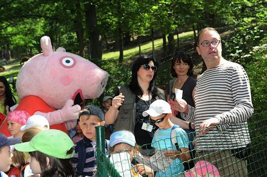 Josef Polášek si dětské odpoledne v zoologické zahradě užil.