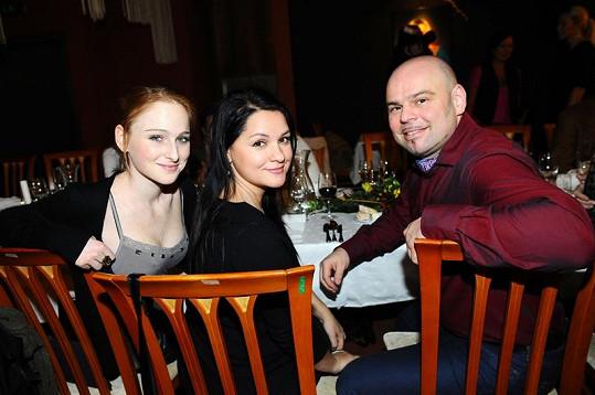 Tereza s Magdou a kolegou Davidem Uličníkem z muzikálu Bídníci.