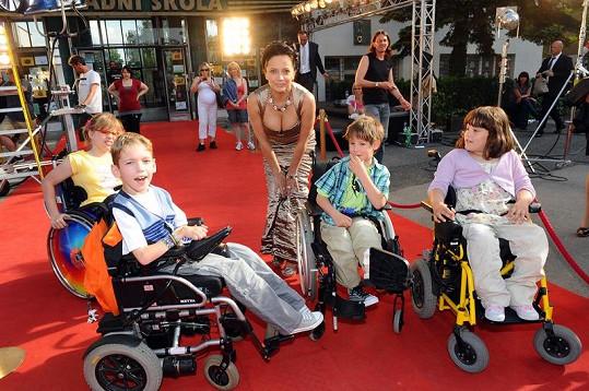 Lucie Bílá si natáčení kampaně užila.
