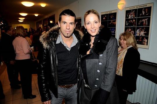 Milan Baroš s manželkou Terezou.