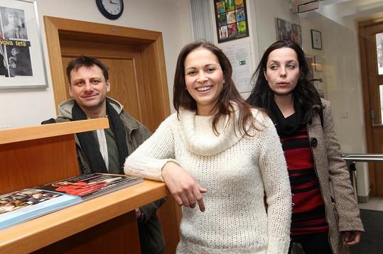 Kristýna s kolegy.
