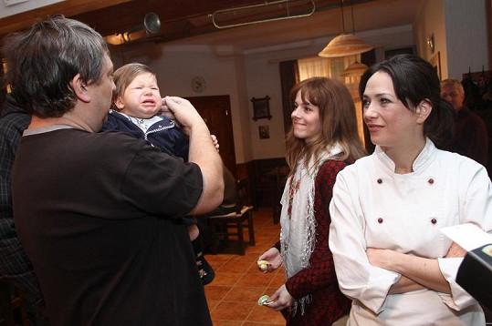 Lucie Černíková při svém prvním natáčením dni.