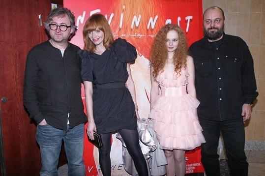 Anna s Aňou Geislerovou s režisérem Janem Hřebejkem.