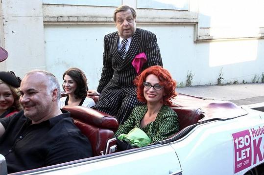 Ivana Chýlková a Milan Šteindler na předváděčce kostýmů.