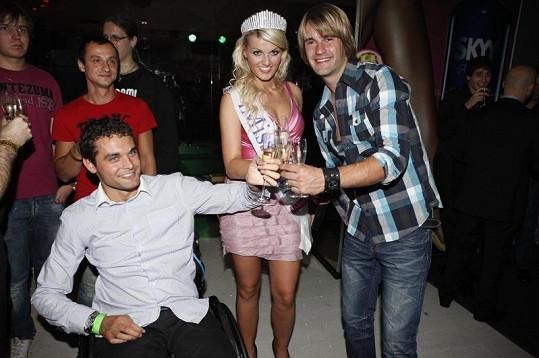 Martin Zach a Petr Poláček s vítězkou iMiss Janou Zapletalovou.