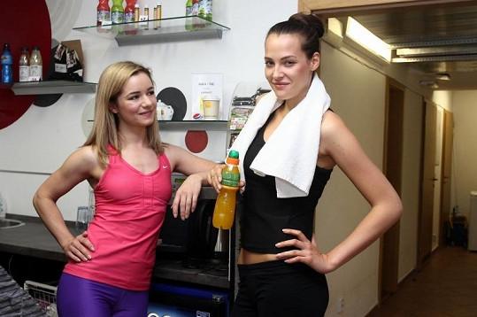 Katka se svou trenérkou.
