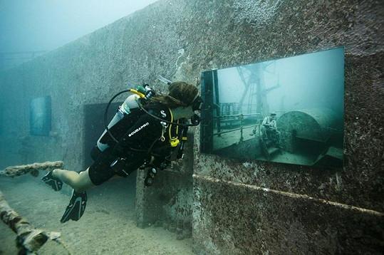 Podvodní galerie nabízí ojedinělý zážitek.