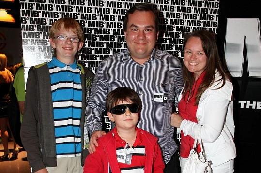 Michal Dusík dorazil s rodinou.