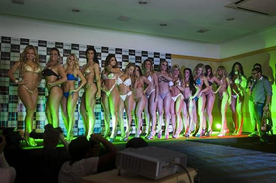 Finalistky soutěže Miss BumBum Brasil 2012.