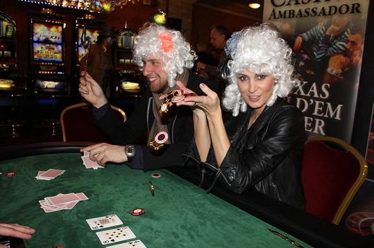 Kateřina Průšová se jako Marie Antoinetta u pokeru skvěle bavila.