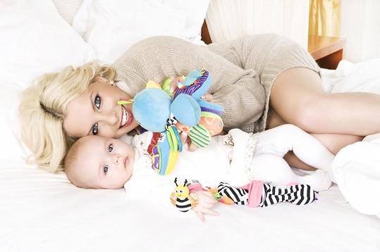 Kateřina Kristelová s dcerou Claudií už fotily společně kampaň.
