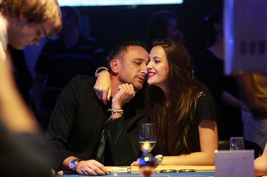 Kateřina Sokolová s přítelem Robertem na párty v casinu.