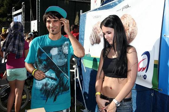Radoslav Banga s přítelkyní Veronikou.