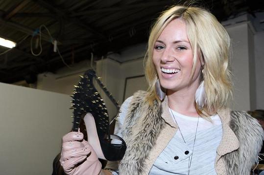 Nikol Moravcová si vybrala luxusní botičky.