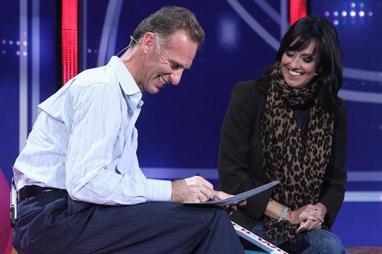 Tereza Brodská a Dominik Hašek se setkali při natáčení televizního pořadu.