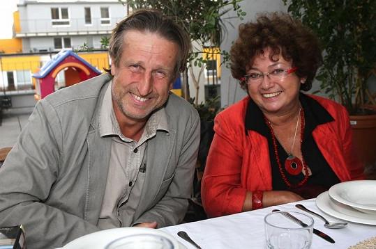 Jana se svým životním partnerem Václavem Vydrou.