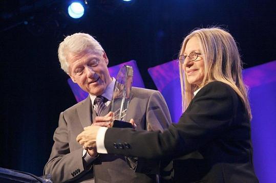 Barbra s Billem Clintonem.