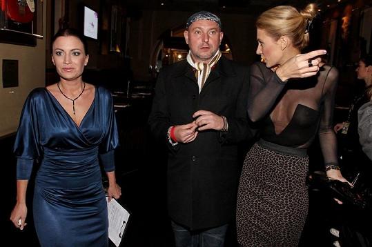 Kateřina Průšová, Gábina Partyšová a fotograf Jakub Ludvík na Miss face.