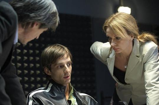 Ivana Chýlková se svými hereckými kolegy.