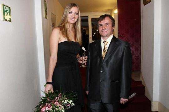 Petra Kvitová a Martin Stazsko byli hosty Českého slavíka.