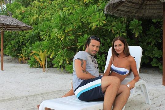 Eliška s Vaškem si dovolenou na Maledivách užívali.