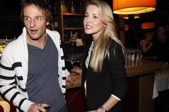 Linda Bartošová s přítelem Slávkem, který je reklamním režisérem.