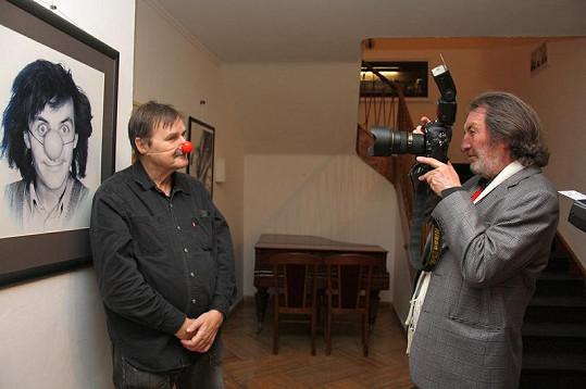 Bolek Polívka si s fotografem Jefem Kratochvílem vyměnil roli.