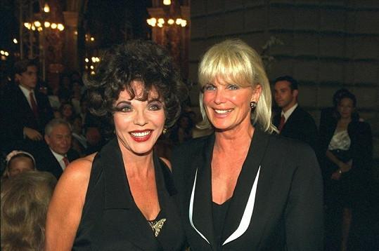 Linda (vpravo) a její herecká kolegyně Joan Collins.