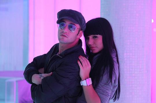 Sámer s Nataly, s níž se objevil na kadeřnické show Aichi.